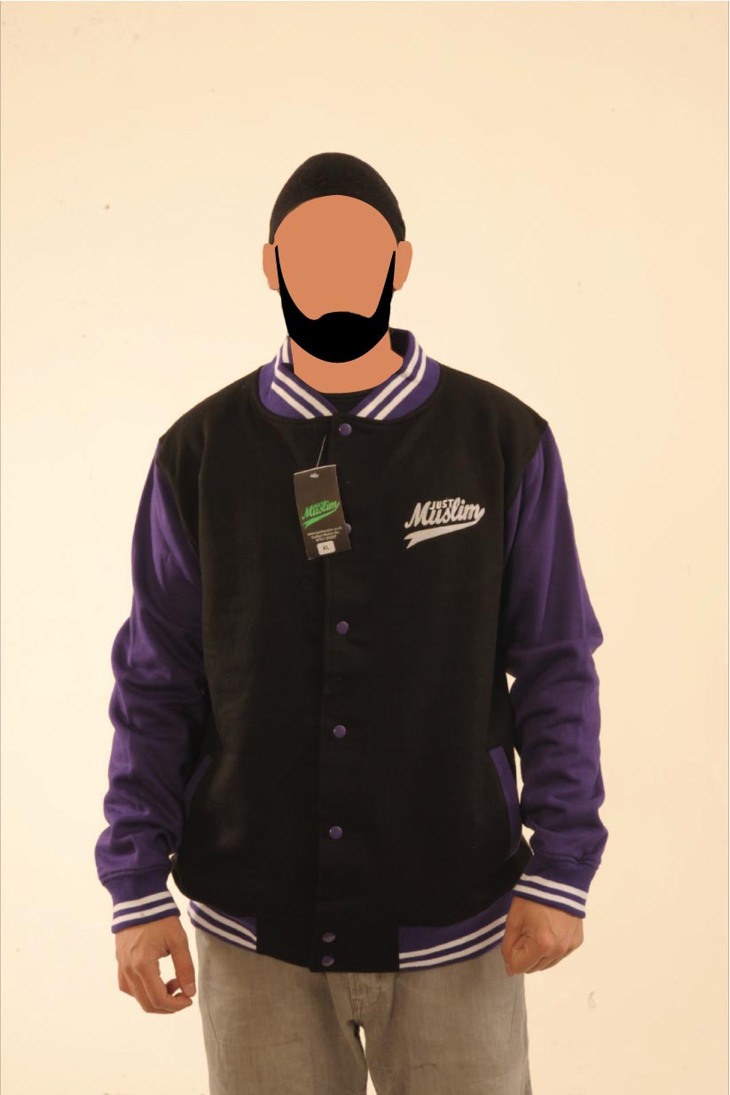 Black & Purple Baseball Jacket