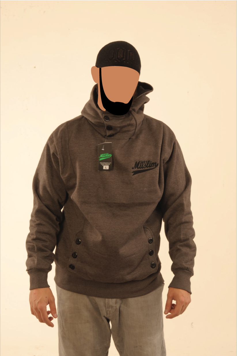 Dark Grey  justmuslim® Core Collection Hooded