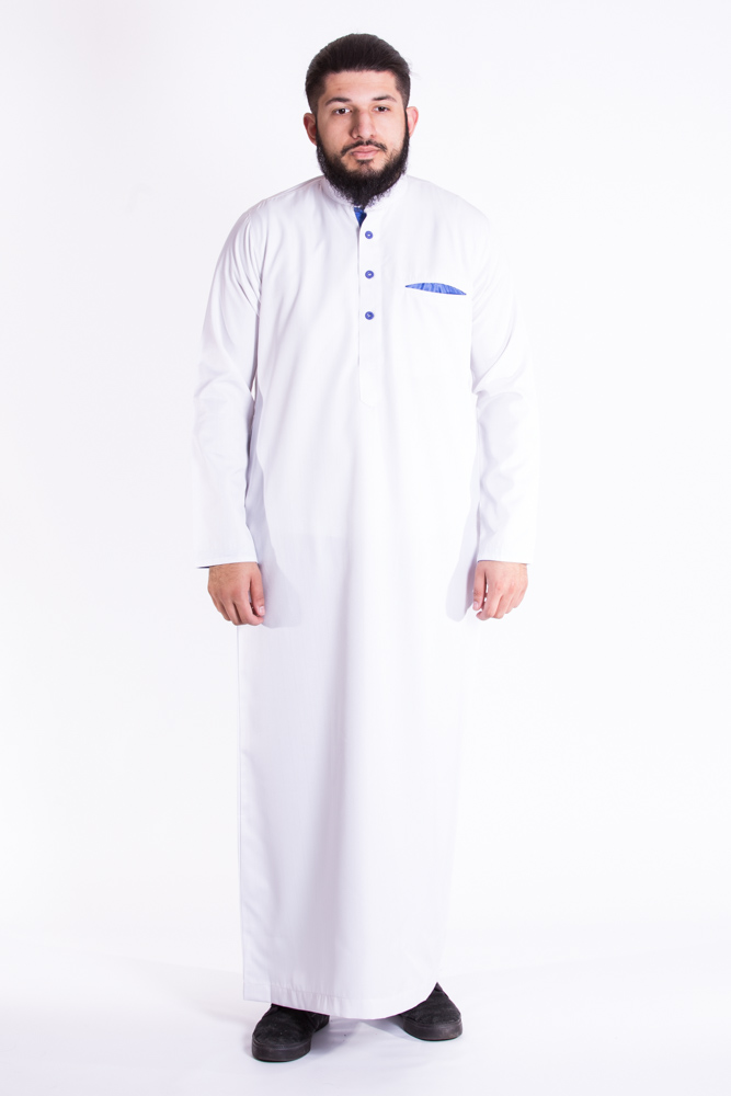 Mulberry White Sky Blue  Jubba (Just In)