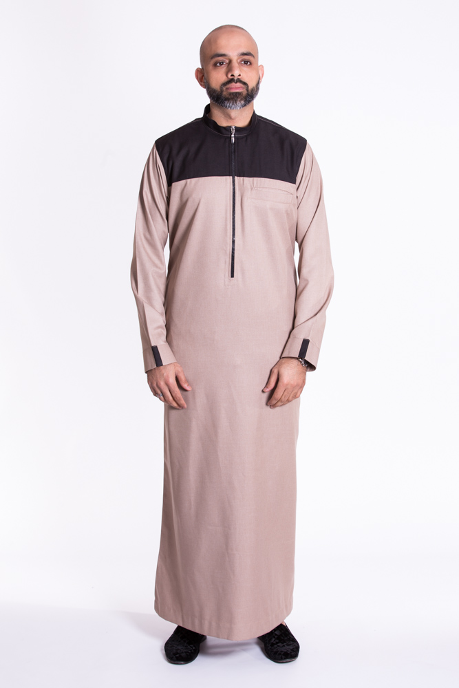 Beige Light Brown Jubba