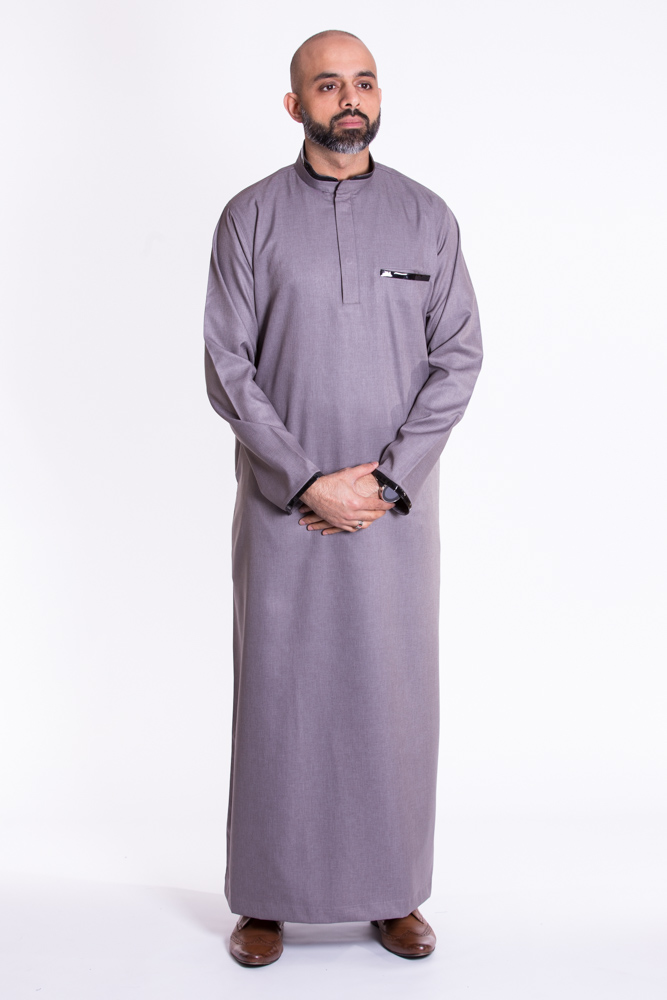 leather jubba Grey  (just in)