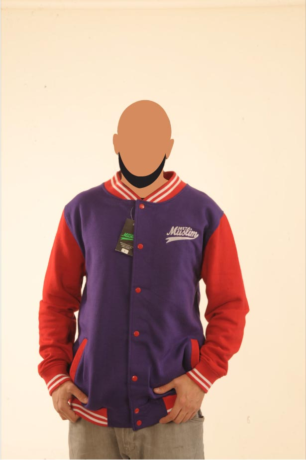 Purple & Red Baseball Jacket
