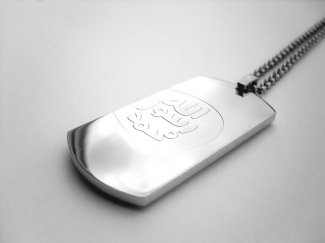 Prophets Seal  ID Cut Out Dog Tag Necklace