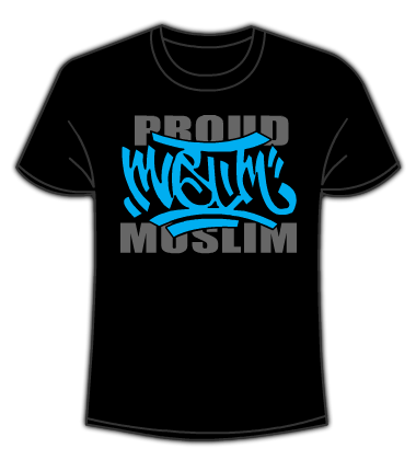 Proud Muslim Graffiti Black