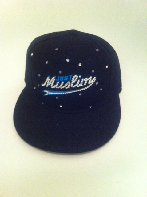 Just Muslim Cap -Black & Blue £24.99