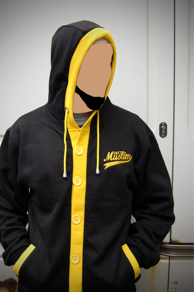 Black & Yellow Hooded Cardigan Hoodies, Hoodys, Hoodie, Hoody ...