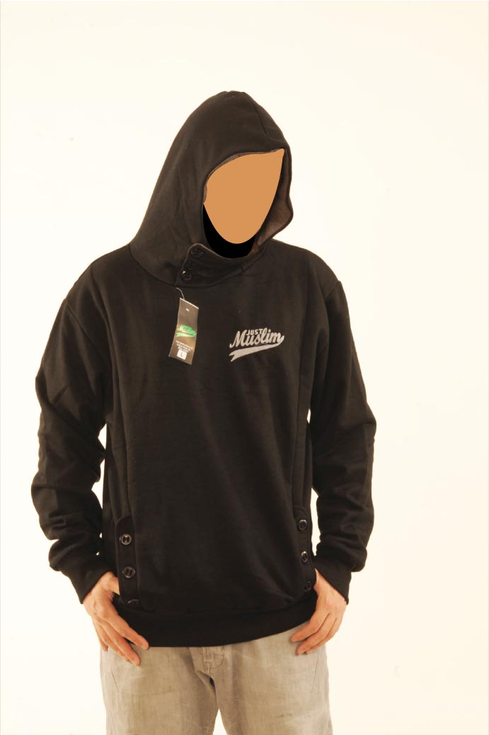 Black justmuslim® Core Collection Hoody