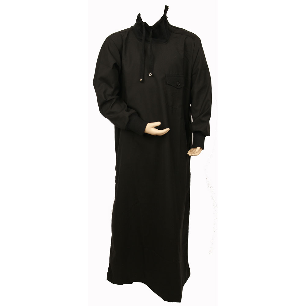 Polo Neck black designer jubba