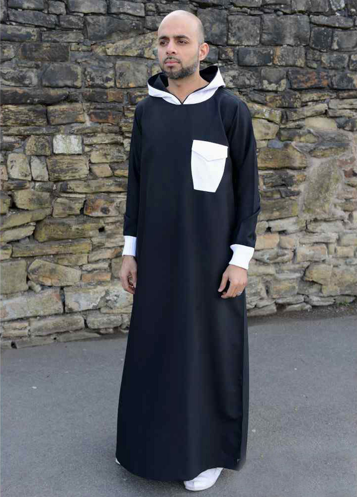 Black Hooded Mens Jubba