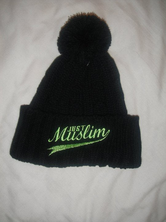 Just Muslim Classic Black & Florescent Bobble Hat