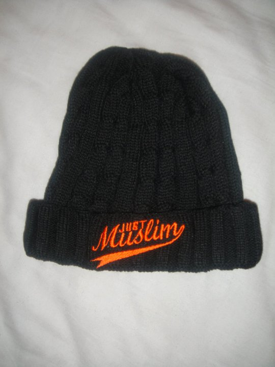 Just Muslim Classic Black & Orange Hat