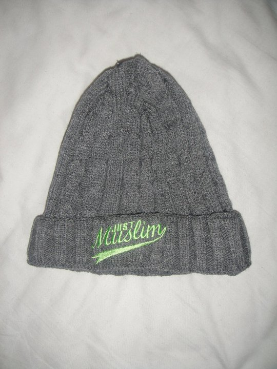 Just Muslim Classic Dark Gray & Fluorescent Green Hat