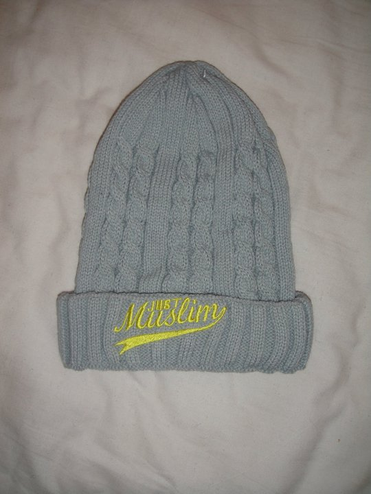 Just Muslim Classic Light Gray & Yellow Hat