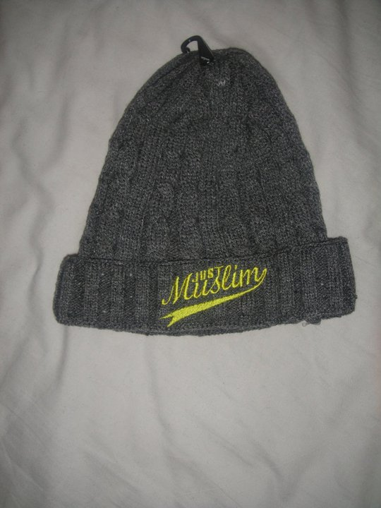 Just Muslim Classic Dark Gray & Yellow Hat