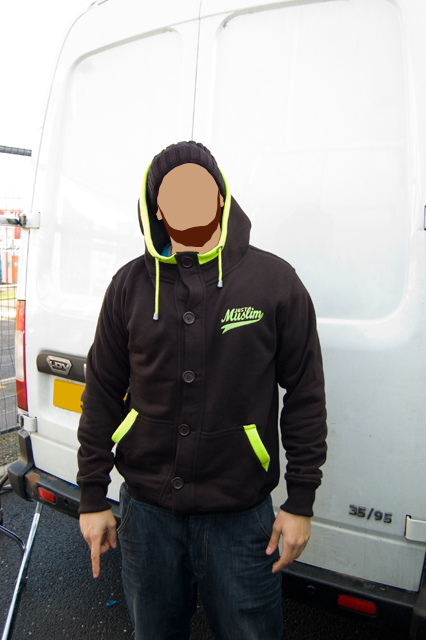 Classic Black/ Fluorescent Green Hoody
