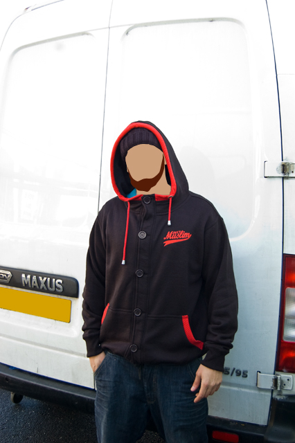 Classic Black/ Red Hoody