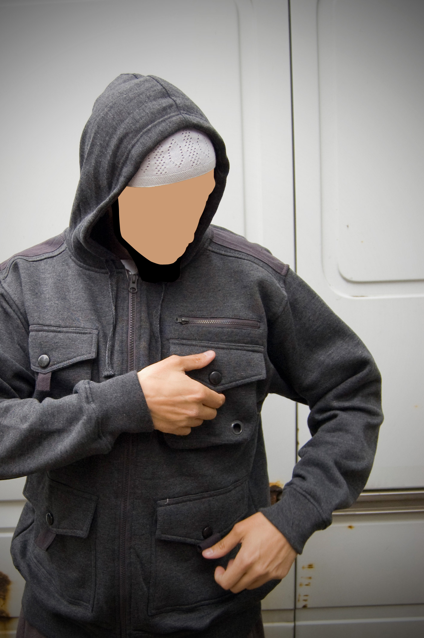 Dark Grey Combat Jacket