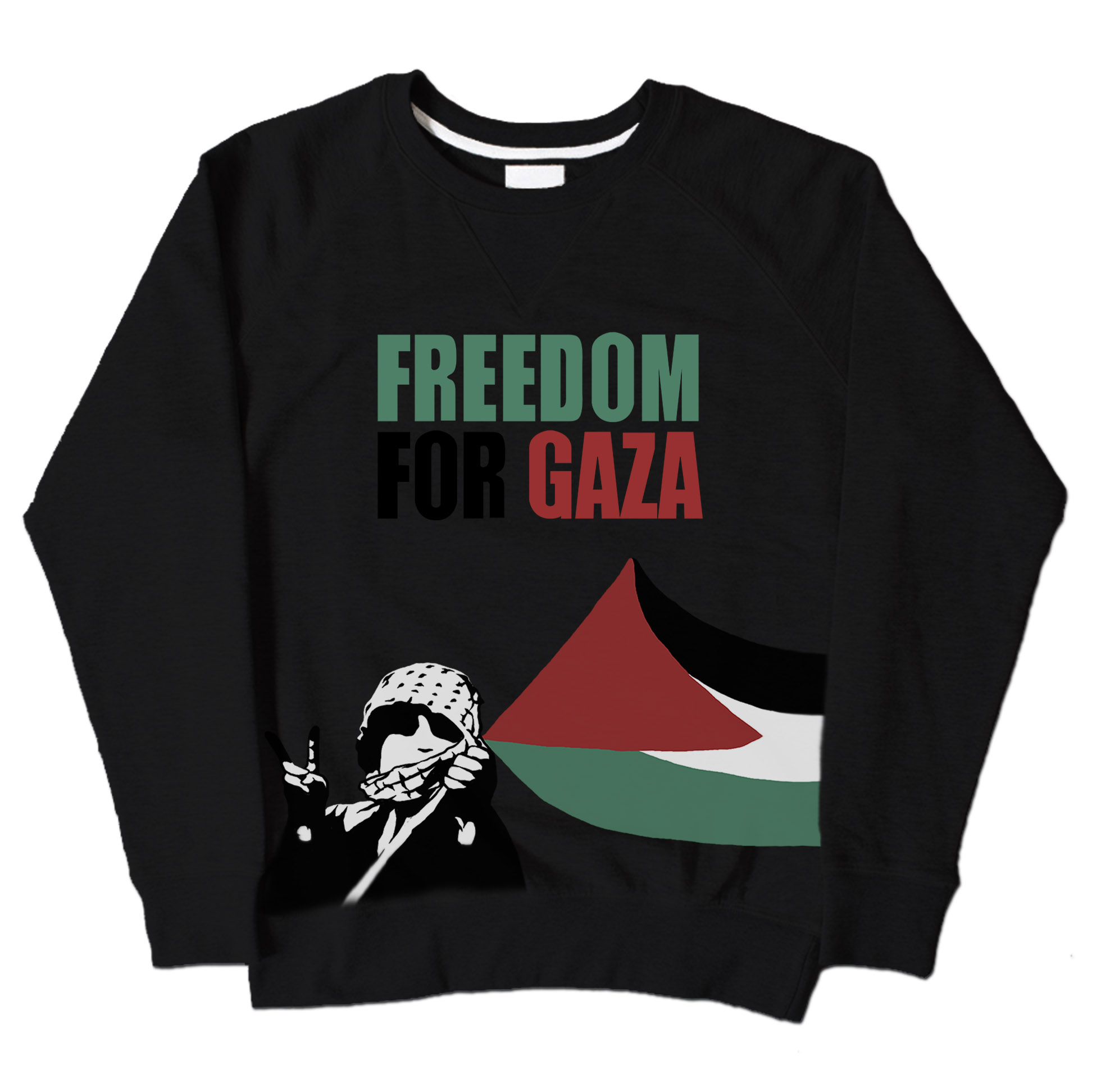 Freedom For Gaza - Black