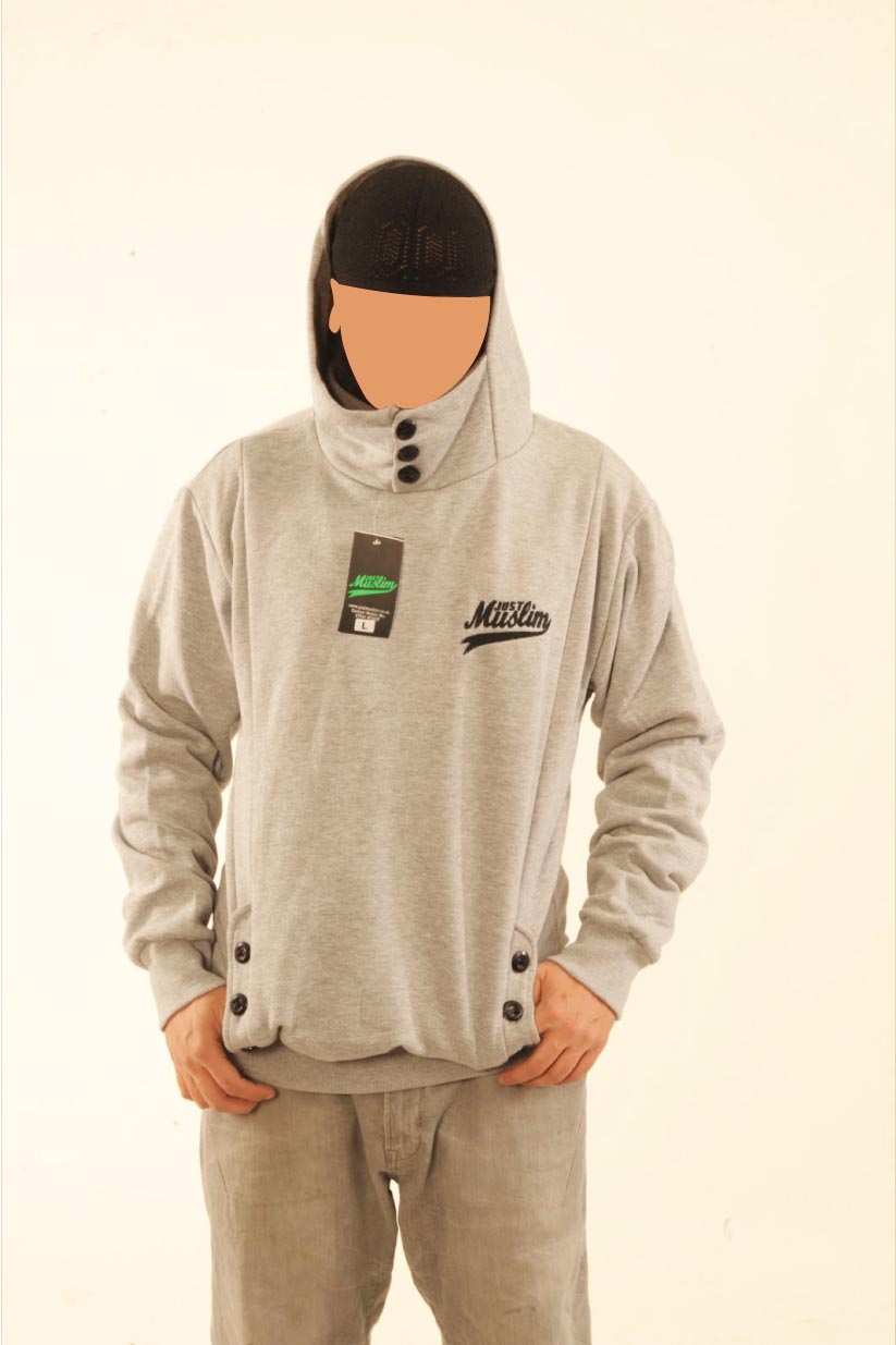 Grey justmuslim® Core Collection Hooded