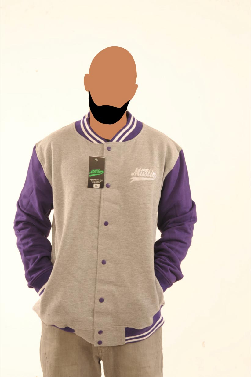 Grey & Purple Baseball Jacket