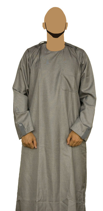 grey mens fashion jubba