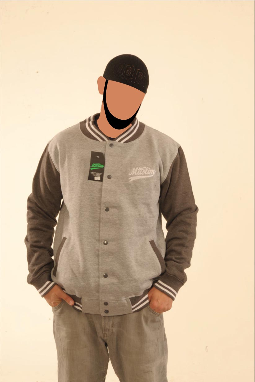 Grey & Dark Grey Baseball Jaacket