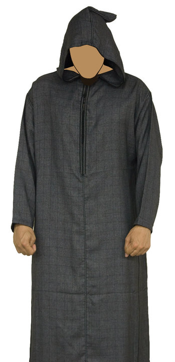 Morrocan Mens Jubba Black
