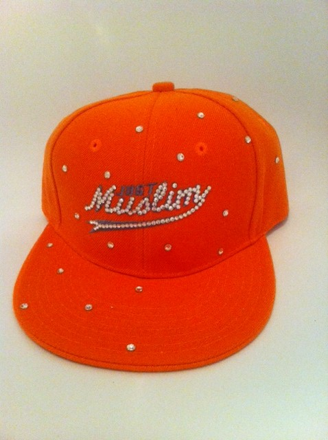 Just Muslim Cap -Orange & White £24.99