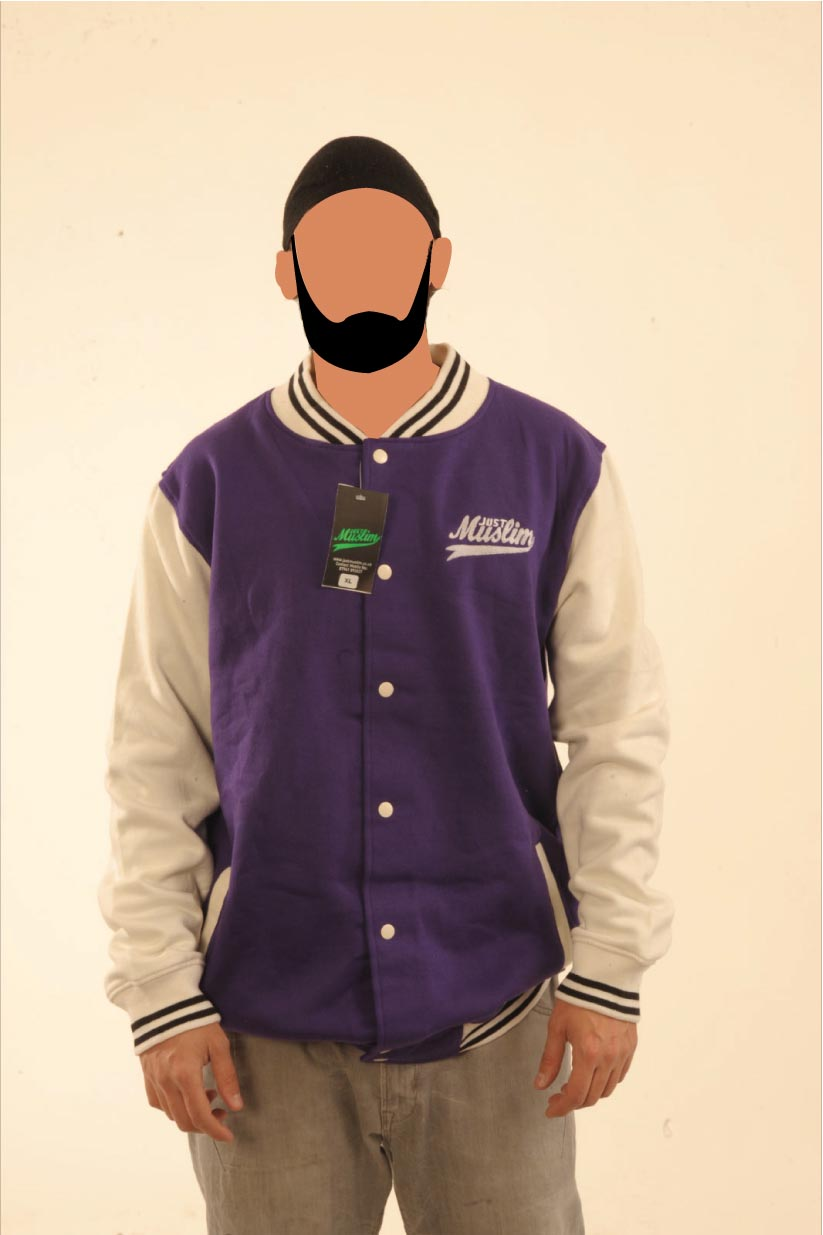 Purple & Cream Baseball Jacket
