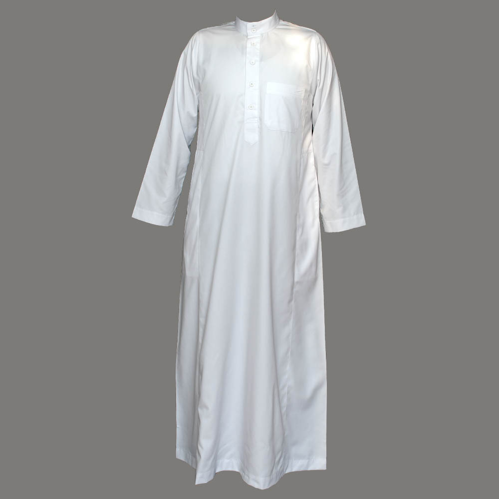 White Coller Plain Jubba